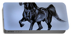 The Black Quarter Horse In Bic Pen Portable Battery Charger