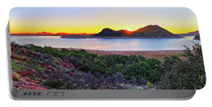 Quartz Mountains And Lake Altus Panorama - Oklahoma Portable Battery Charger
