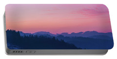 Quartz Sunset Sky Over Blue Ridges Of Mountains Portable Battery Charger
