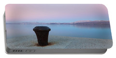 Portable Battery Charger featuring the photograph Quay In Dawn by Davor Zerjav
