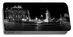 Quebec City Boardwalk At Night Portable Battery Charger