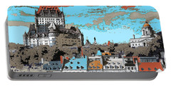 Quebec City Canada Poster Portable Battery Charger