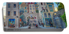 Quebec City Mural Portable Battery Charger