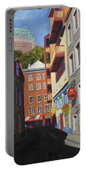 Quebec City Side Street Portable Battery Charger