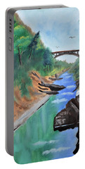 Quechee Gorge,vermont Portable Battery Charger