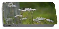 Queen Anne Lace Wildflowers Portable Battery Charger