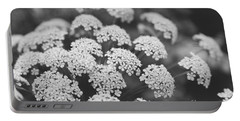 Queen Anne's Lace Floral Monochrome Portable Battery Charger by Ella Kaye Dickey