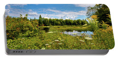 Portable Battery Charger featuring the photograph Queen Anne's Lace On The Moose River by David Patterson