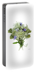 Queen Anne's Lace With Purple Flowers Portable Battery Charger