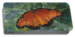 Queen Butterfly Watercolor Batik Portable Battery Charger