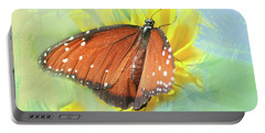 Queen Butterfly Watercolor Photo Portable Battery Charger