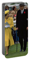 Queen Elizabeth Inspects The Horses Portable Battery Charger