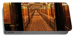 Portable Battery Charger featuring the photograph Queen Mary Hallway by Mariola Bitner