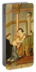 Queen Mary I Curing Subject With Royal Portable Battery Charger