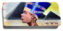 Queen Nefertiti Portable Battery Charger