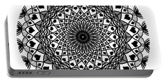 Queen Of Hearts King Of Diamonds Mandala Portable Battery Charger