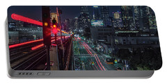 Queens 7 Train And Nyc Skyline Portable Battery Charger