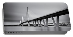 Queensferry Crissing Bridge Mono Portable Battery Charger