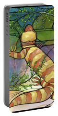 Portable Battery Charger featuring the digital art Quiet As A Mouse by Randy Wollenmann