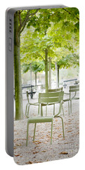 Quiet Moment At Jardin Luxembourg Portable Battery Charger