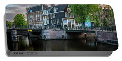 Quiet Morning In Amsterdam Portable Battery Charger