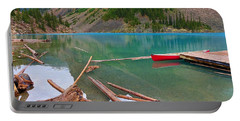 Moraine Lake I, Alberta Portable Battery Charger by Heather Vopni