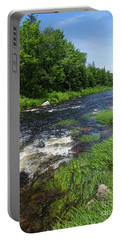 Portable Battery Charger featuring the photograph Quill Pond Brook Near Rangeley Maine  -70748 by John Bald