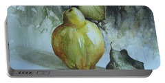 Portable Battery Charger featuring the painting Quince... by Elena Oleniuc