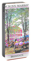 Quincy Market, Boston Massachusetts, Poster Image Portable Battery Charger