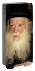 Portable Battery Charger featuring the photograph Rabbi Yehudah Zev Segal by Doc Braham