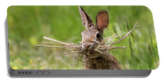 Rabbit Collector Square Portable Battery Charger by Terry DeLuco