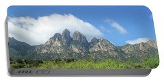Portable Battery Charger featuring the photograph  Organ Mountains Rabbit Ears by Jack Pumphrey