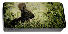 Rabbit In Meadow Portable Battery Charger