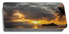 Rabbit Island Sunrise - Oahu Hawaii Portable Battery Charger by Brian Harig