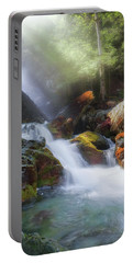 Portable Battery Charger featuring the photograph Race Brook Falls 2017 by Bill Wakeley
