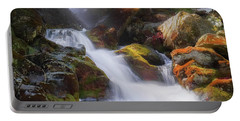 Portable Battery Charger featuring the photograph Race Brook Falls 2017 Square by Bill Wakeley