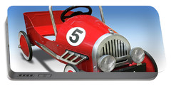Portable Battery Charger featuring the photograph Race Car Peddle Car by Mike McGlothlen