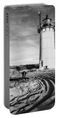 Race Point Light Provincetown Ma Bw Portable Battery Charger