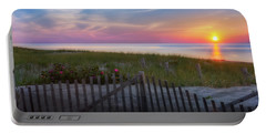 Portable Battery Charger featuring the photograph Race Point Sunset 2015 by Bill Wakeley