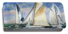 Race - Sails 11 Portable Battery Charger by Irek Szelag