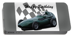 Racing Car Birthday Card 5 Portable Battery Charger by John Colley