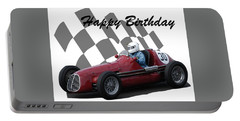 Racing Car Birthday Card 6 Portable Battery Charger by John Colley