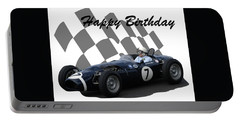 Racing Car Birthday Card 8 Portable Battery Charger by John Colley