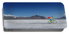 Racing On The Bonneville Salt Flats Portable Battery Charger