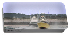 Portable Battery Charger featuring the photograph Racing Thru The Inlet by Robert Banach