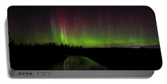 Red And Green Aurora Pillars Portable Battery Charger