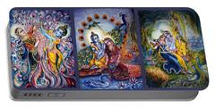 Radha Krishna Cosmic Leela Portable Battery Charger