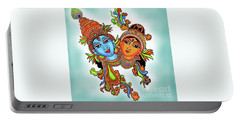 Radha With Her Krishna Portable Battery Charger