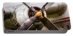 Portable Battery Charger featuring the photograph Radial Engine And Prop - Fairchild C-119 Flying Boxcar by Gary Heller