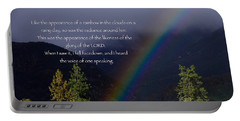 Portable Battery Charger featuring the photograph Radiance Of The Rainbow by Debby Pueschel